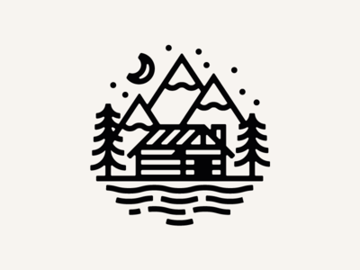 Home vancouver tattoo night woods forest cabin