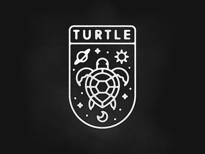 World Turtle its turtles all the way down turtle badge
