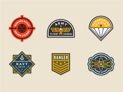 Military Patches army training badges patches military