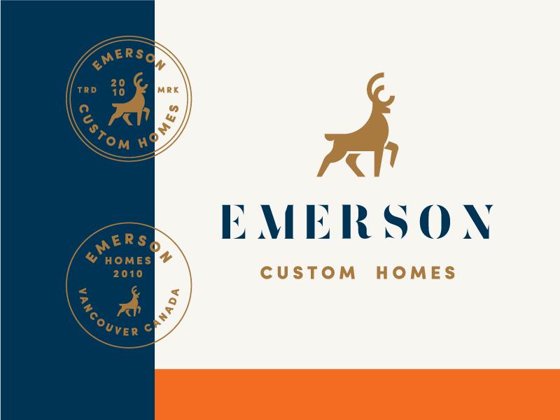 Emerson 3 vancouver home e logomark exploration contracting logos
