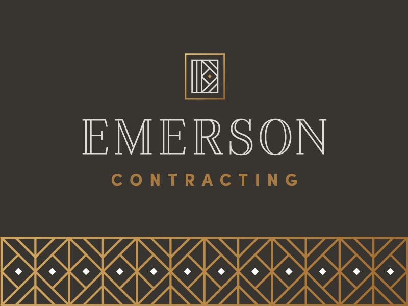 Emerson 4 vancouver home e logomark exploration contracting logos