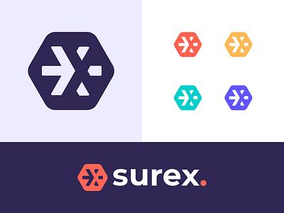 Surex Logo insurance logo design symbol branding identity illustration icon vancouver logo