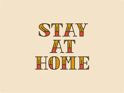 STAY AT HOME font lettering typography tattoo vintage american oldschool typedesign typeface type design line vector