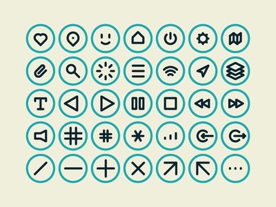 40 GUI icons for the MNML Collection