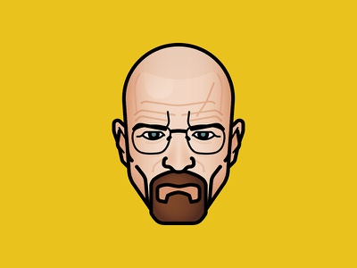 Say my name ! walter white hbo vector illustration icon character