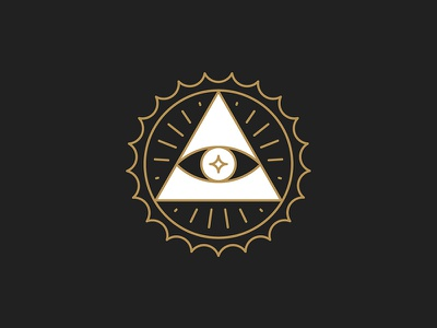 Protection / Cap vector occult minimal line icon holy hand design beer