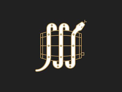 Safe Keeper vector occult minimal line icon holy snake design beer wine