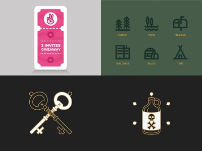 2018 Top 4 app ux ui illustration branding logo minimal design line icon vector