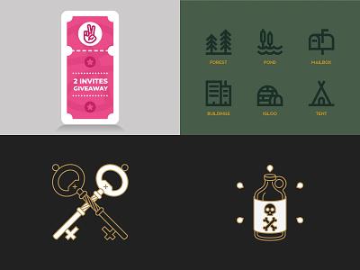 2018 Top 4 app ux ui illustration branding logo minimal design line icon vector