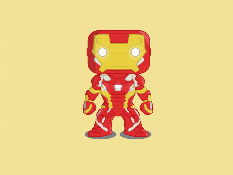 Iron Man colour design artist comic brand marvel fun character design vector art cartoon illustration freelance graphic character artwork art vector endgame avengers iron man