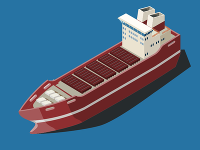 Boat illustraion vector isometric boat