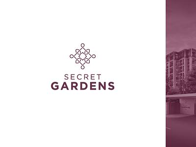 Secret Gardens pictograms icons garden branding logo