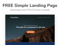 Responsive Landing Page (Sketch and HTML/CSS files included)