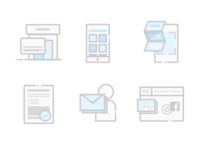 Icons for one of our microsite