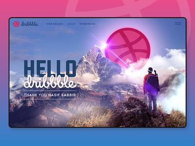 Hello Dribbble! homepage mountain firstshot first invite website website design webdesign ui hello hello dribbble