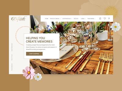 Landing Page Website - UI UX Homepage Design website design webdesign homepage ux ui web landing page uidesign website event party decoration flowers decor