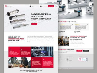 Website Design for Product Manufacturing webdevelopment webdesign website design homepage uiuxdesign uidesign uiux ui web designer web design website