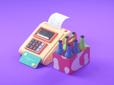 Card payment icon debit card card art 3d cinema4d c4d octanerender branding web design illustration