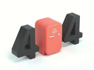 404 error 404page loops animation 3d cinema4d c4d octanerender branding ui web design illustration