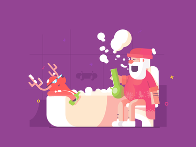 Christmas is coming. bong weed santa graphic design artwork vector christmas illustration