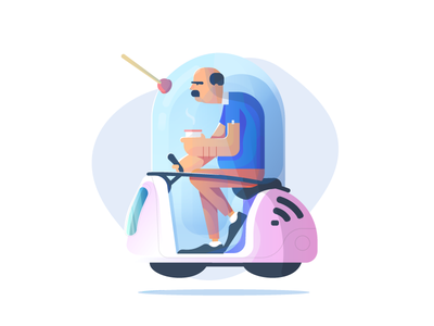 Bad Day. web icon ui character gameart vector illustration