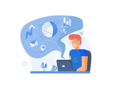 Not a Rocket Science. design icon art ui illustration web vector