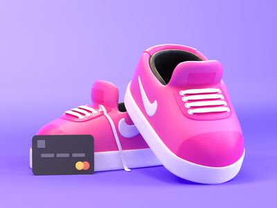 SneakerHead web toy c4d mastercard nike sneakers sneakerhead octanerender otoy cinema4d 3d art illustration