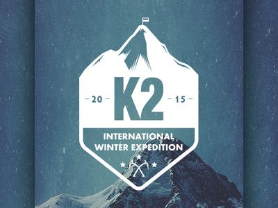 K2 - logo & CI poland ascent winter climb himalaya mountain mountains k2 logo