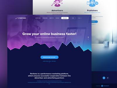 Perfomo - Homepage