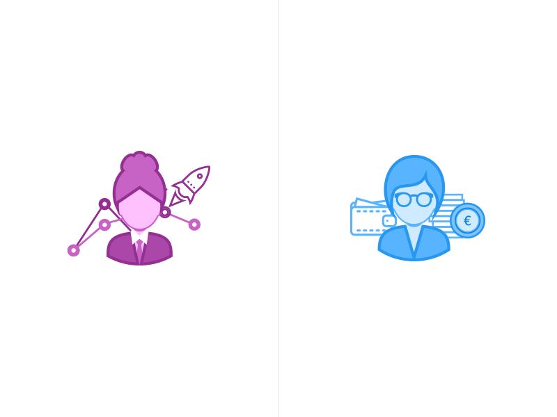 Perfomo - Main icons minimal clean affiliate color icon