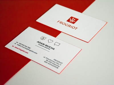 Letterpress business cards by FROGRIOT