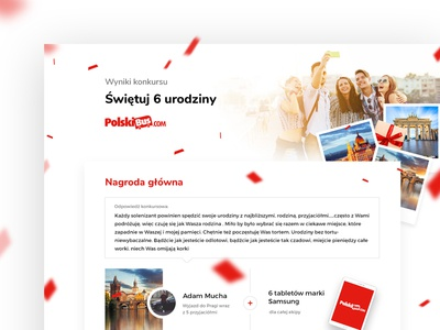 Website for Polski Bus coach carrier. Contest results