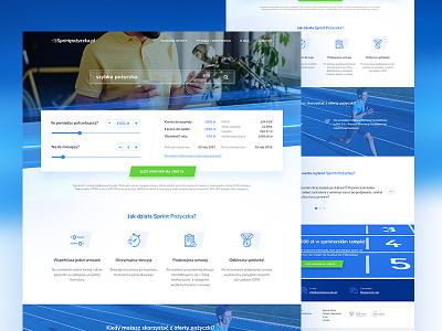 Website for Sprintpozyczka.pl front web graphic design website design graphic