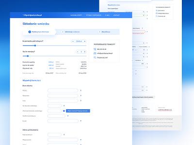 Website - graphic design for Sprintpozyczka.pl ui form for a loan loan front end graphic design design website