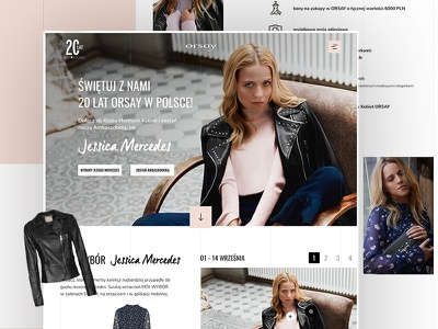 Competition website for Orsay brand: overview ux ui orsay contest design website