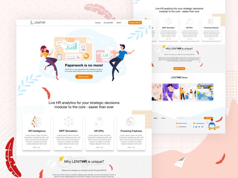 lenither uplabs ux flat web 2d vector illustration website webdesign ui design