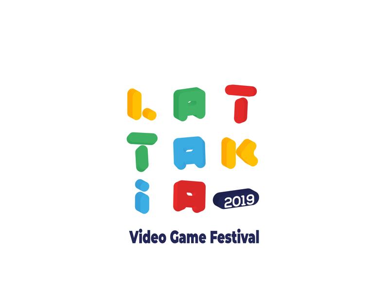 Lattakia Video Game Festival graphic video game game logo 3d logo icon vector logo branding illustration