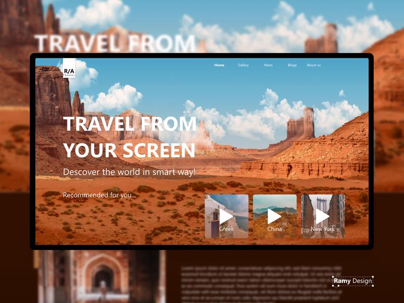 Travel website userinterface landscape city tv desert uiux travel app photoshop website ux icon web webdesign ui design