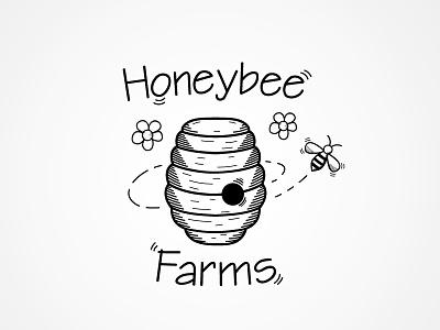 Honeybee Farms Logo wacom illustrator illustration logo design
