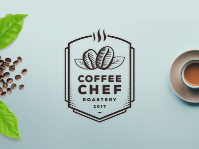 Coffee Chef Roastery roastery shop coffee branding logo