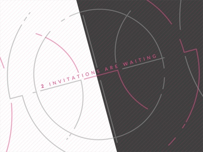 2 Dribbble Invitations available