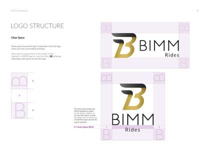 Bimm Logo Structure Styleguide page.