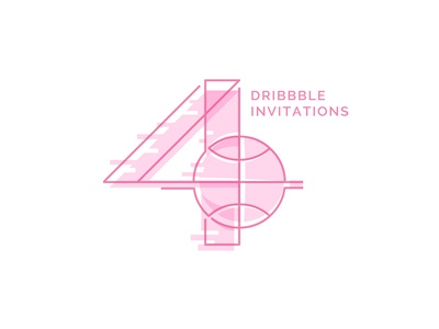 4 Dribbble Invitations