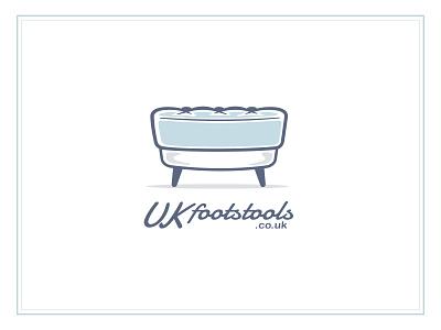UKfootstools logo sofa furniture art illustration logo footstool blue uk stool foot