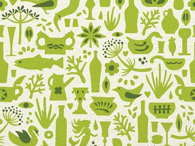 Scandinavian pattern scandinavian pattern green aquavit alcohol