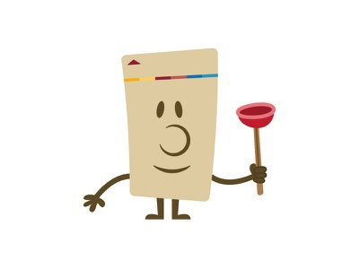 Key card avatar — Plunger plunger key card illustration