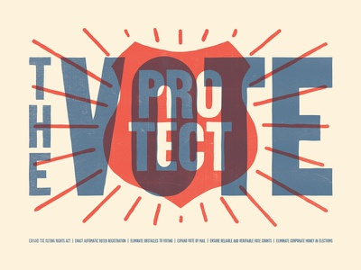 Protect the Vote america usa election right vote protect poster