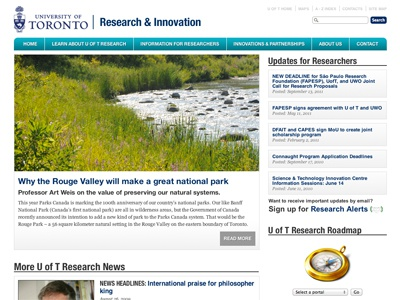 New Research homepage website html5 web design mockup university