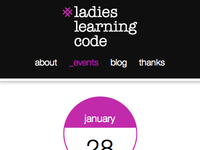 Ladies Learning Code - mobile version