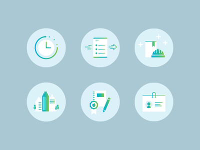 Mile27 Realty Icons simple flat gradient icons